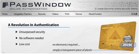 "Screenshot of PassWindow's website, containing their claim of ""unsurpassed security"" etc."